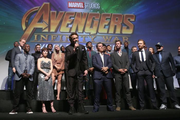 Avengers Infinity War Premiere Cast