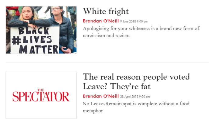 Brendan O'Neill is the King of Bad Takes