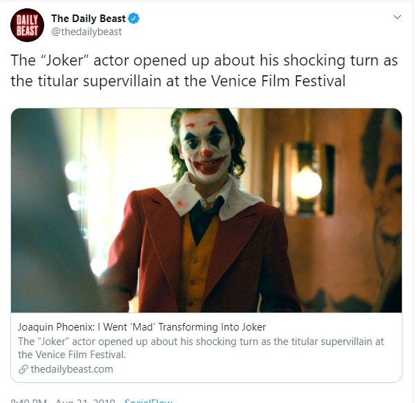 No Joaquin Phoenix Didn T Say He Went Mad Playing The Joker