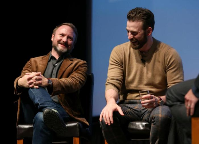 Rian Johnson Chris Evans Getty.jpg
