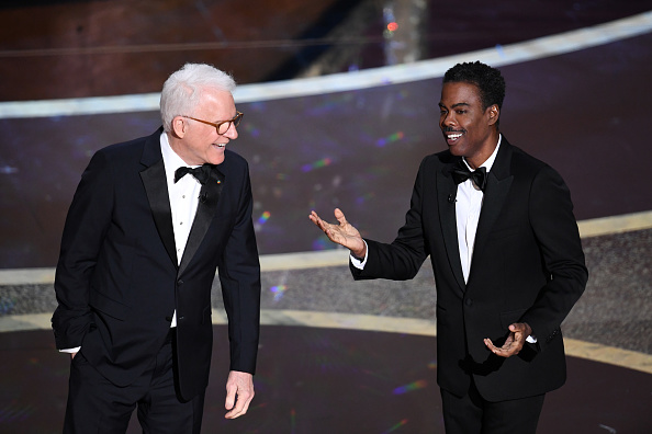 In the Oscars Monologue, Chris Rock and Steve Martin Find the One Guy They Can Punch Up