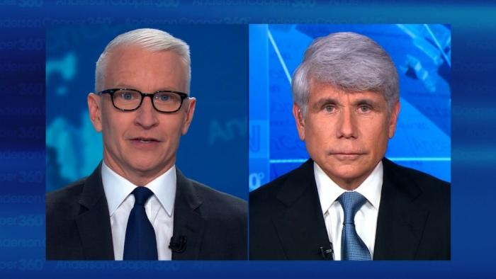Watch Anderson Cooper Rip Out Rod Blagojevich's Still Beating Heart and Slap Him With It