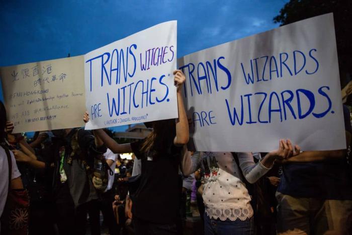 Trans wizard protest Getty.jpg