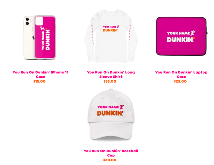 Dunkin personalized merch.png