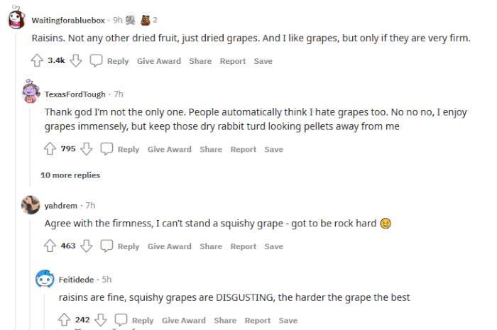 pajiba-reddit-food-popular-hate-raisins.png